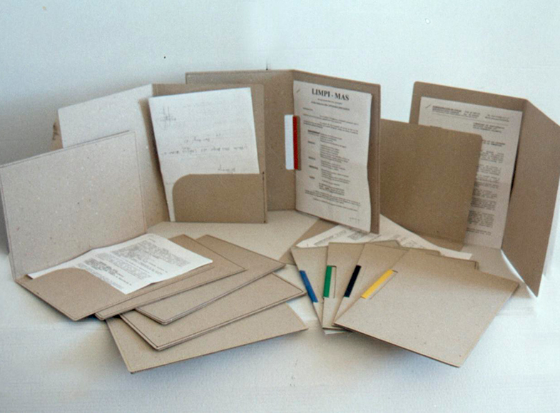 Subcarpetas cartón reciclado