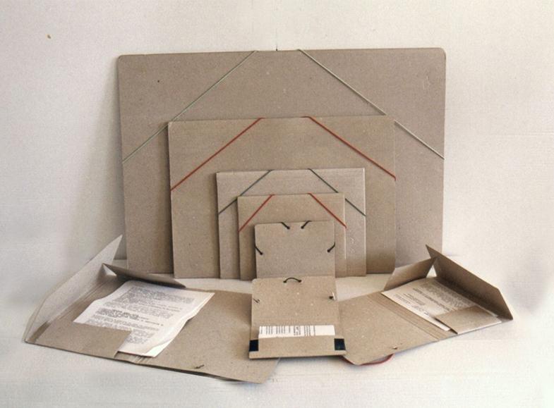 Carpeta sencilla cartón reciclado